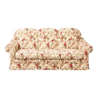 Floral English Roll Arm Sleeper Sofa For Sale