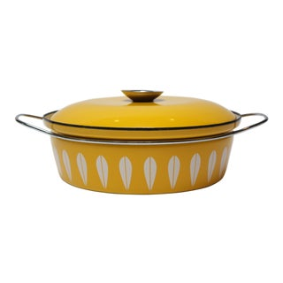 Norwegian Modern Cathrineholm Yellow Lotus Covered Casserole For Sale