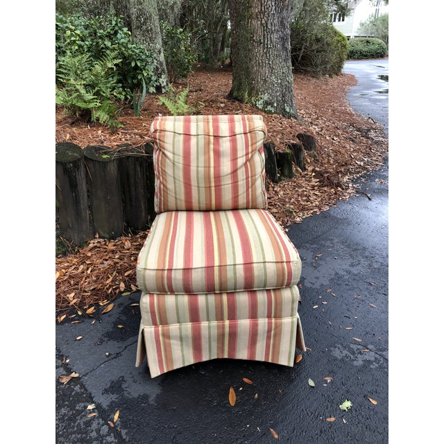 Traditional Modern Vanguard Furniture Down Filled Slipper Chair For Sale - Image 3 of 8