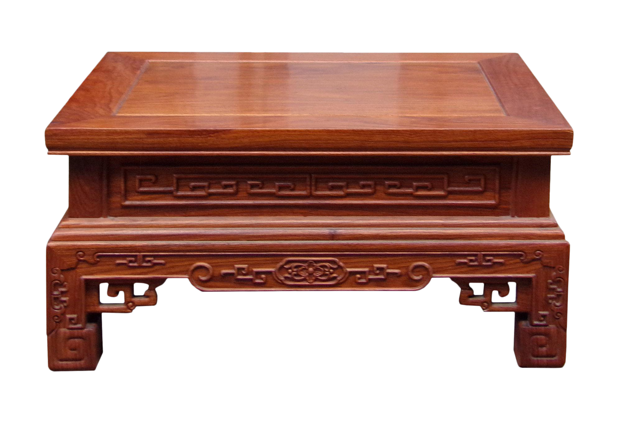 Chinese Handmade Yellow Rosewood Low Kang Table Stand