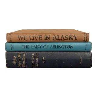 Vintage Decorative Books-Set of 3 For Sale