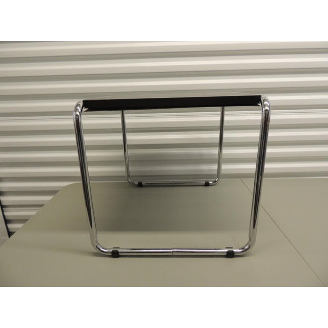 Marcel Breuer Style Tubular Steel Side Table For Sale - Image 5 of 5