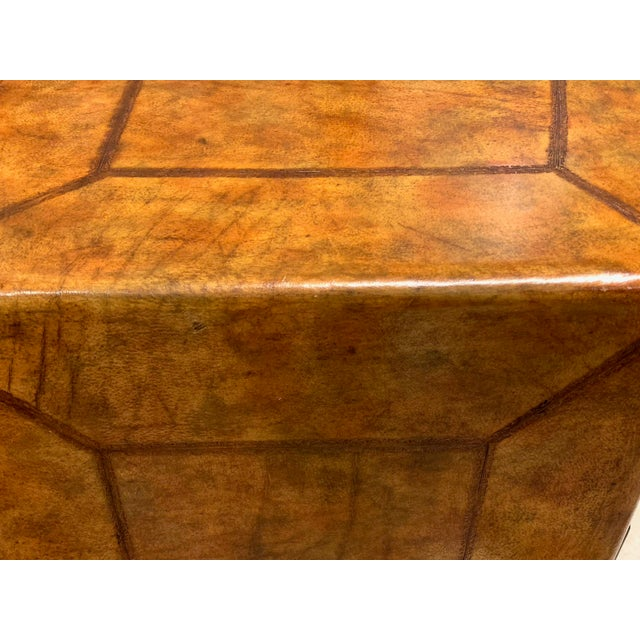 Brown Lineage Leather and Pencil Rattan Chest For Sale - Image 8 of 11