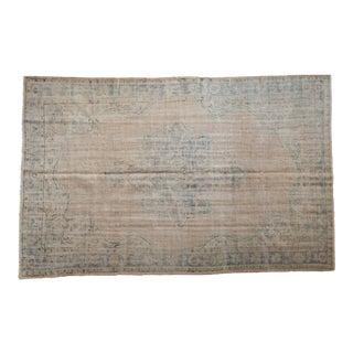 "Vintage Distressed Oushak Carpet - 6'4"" X 10' For Sale"