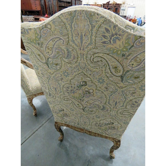 Louis XV Style Tapestry Armchairs - a Pair For Sale - Image 10 of 12