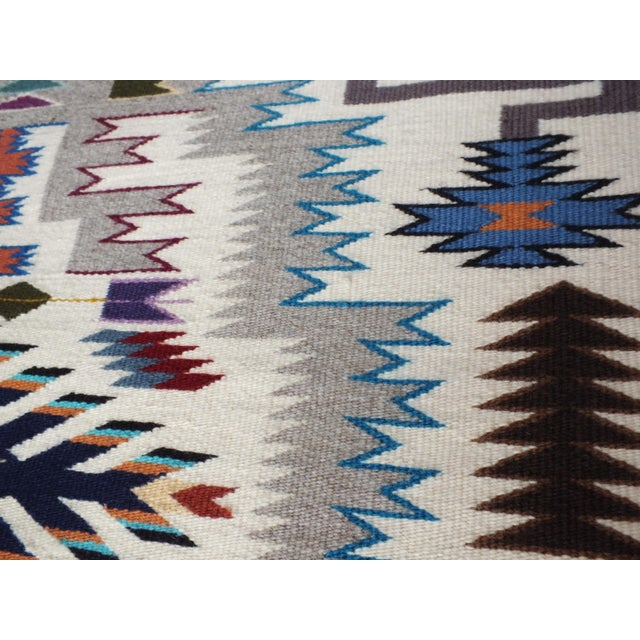 """Navajo Rug Storm Pattern, Lily Touchin -- 2'10"""" x 4'2"""" For Sale - Image 5 of 10"""