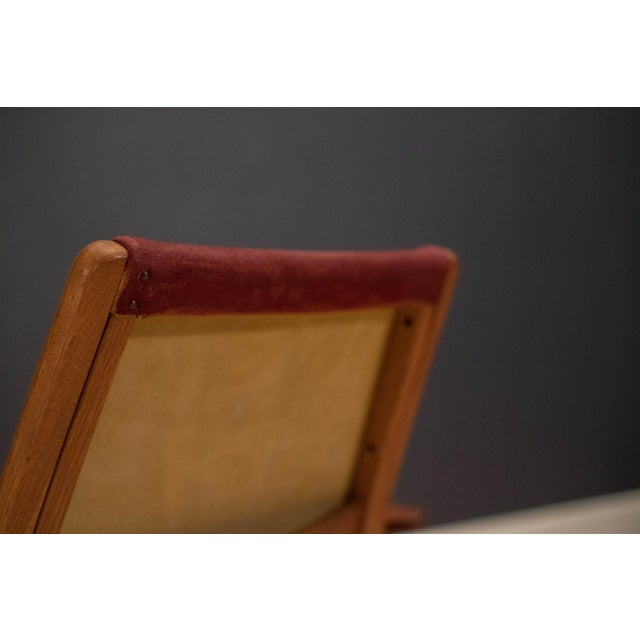Red Vintage Mid-Century Yngve Ekström Lamino Lounge Chair For Sale - Image 8 of 12