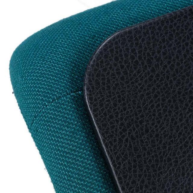 Jan Ekselius Style Modern Modular Teal Tweed Sectional Sofa Seating - Set of 10 For Sale - Image 11 of 13