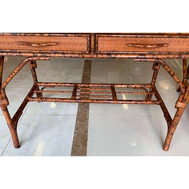 Japanoise Bloomingdale's Bamboo Writing Desk For Sale In Tampa - Image 6 of 11