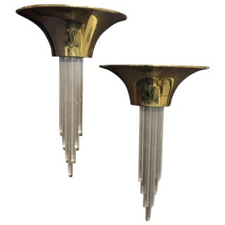 Karl Springer Purcell Demilune Wall Sconces For Sale