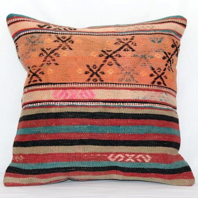 Turkish Handmade Kilim Pillow Cover - Image 7 of 8