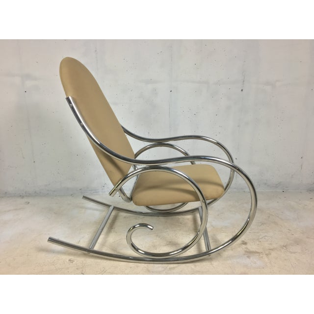Modern Chrome Rocker In The Style of Michael Thonet - Image 3 of 4