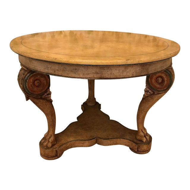 Traditional Wooden Center Table For Sale