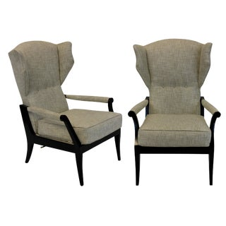 A Pair of Stylish Italian Reclining Armchairs For Sale