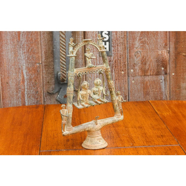 Tribal Bastar Figurines on Swing For Sale - Image 4 of 11