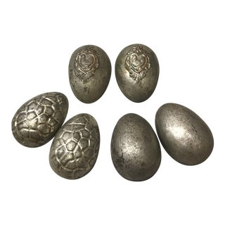 Antique Easter Egg Chocolate Molds by Anton Reiche Dresdin - Set of 3 For Sale
