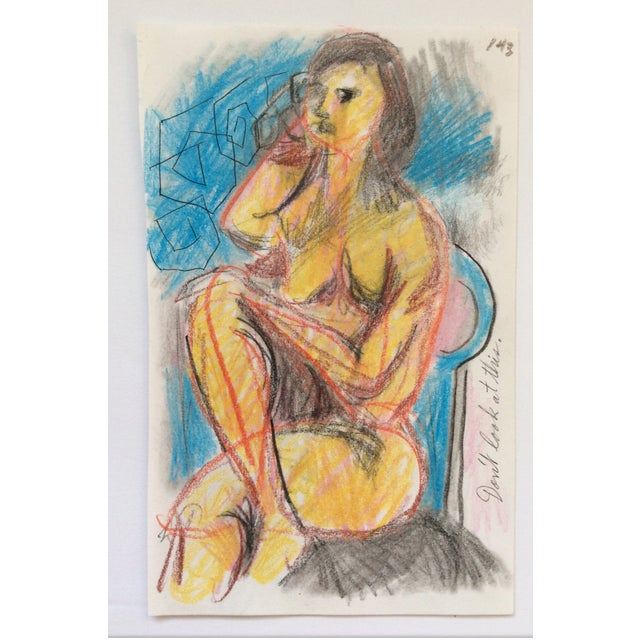 Contemporary 1990s Don't Look at This Female Nude by James Bone For Sale - Image 3 of 3