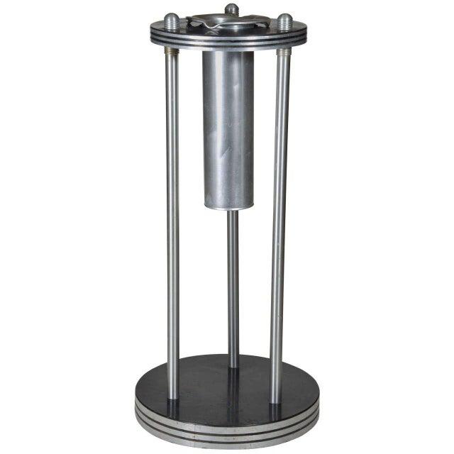 Aluminum Warren McArthur machine age industrial design Smoke Stand For Sale - Image 7 of 7