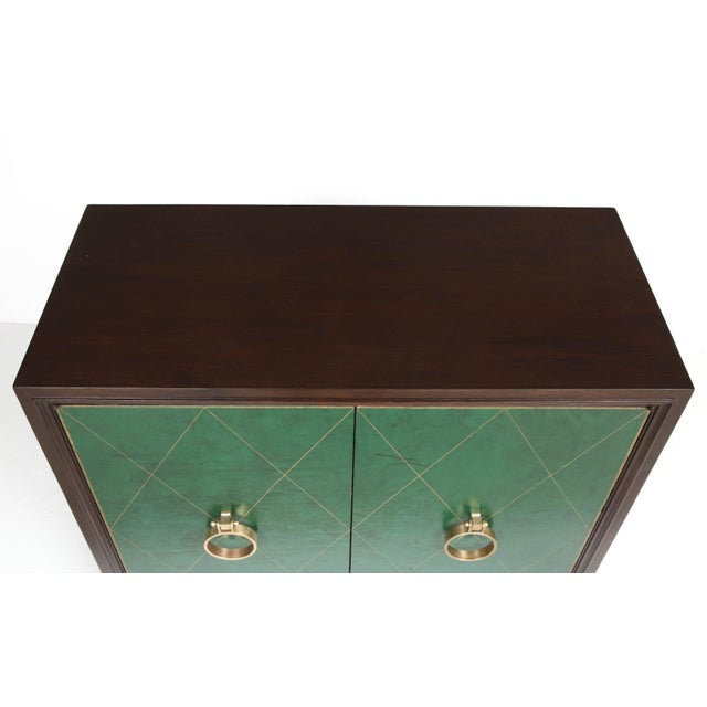 Metal Tommi Parzinger Walnut Cabinet/Console For Sale - Image 7 of 10
