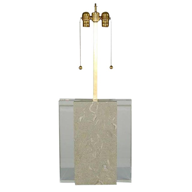 Fossil Stone Table Lamp For Sale - Image 11 of 11