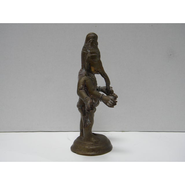 Vintage Bronze Ganesha Figure - Image 4 of 7