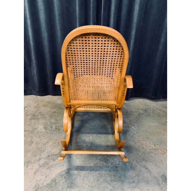 Mid 20th Century Vintage Mid Century Crassevig Bentwood Rocking Chair For Sale - Image 5 of 7