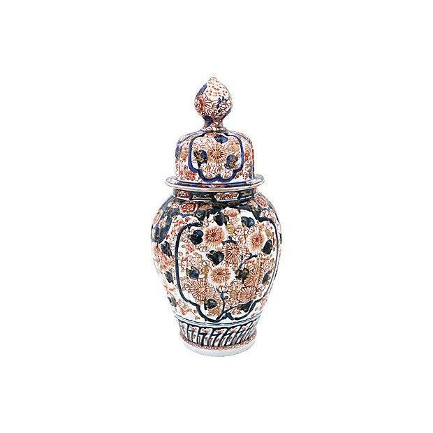 Antique Imari Japanese Porcelain Urn For Sale - Image 5 of 5