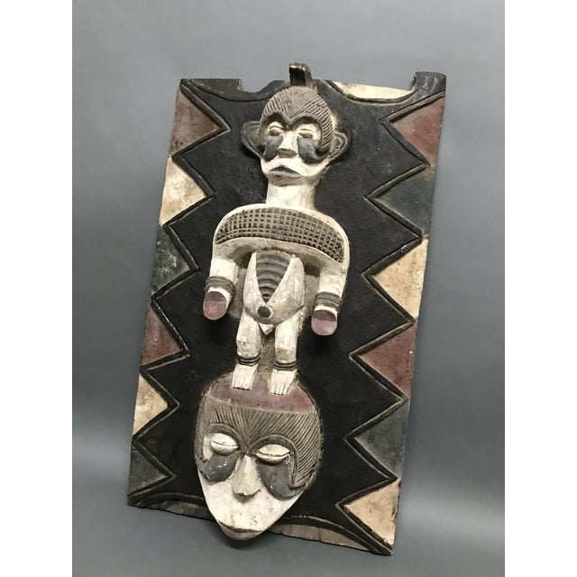 African art, Tribal art, Ibo Door/Window from Nigeria. Made on mid20th century. Made of wood. Very good and excellent...