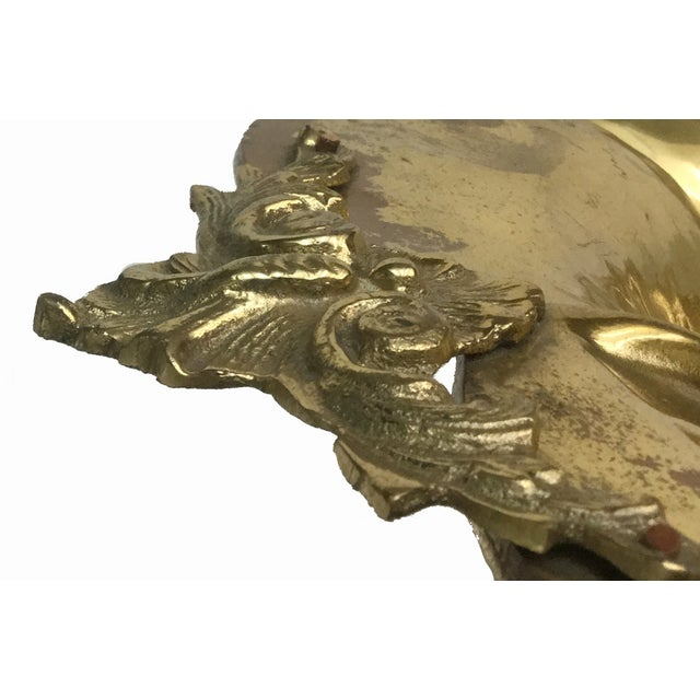 Large Hammered Brass Footed Bowl - Image 4 of 7