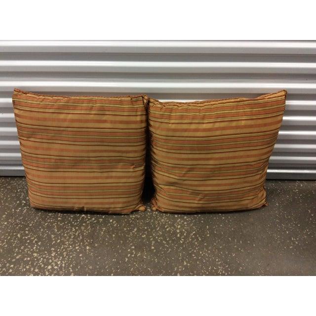 Custom Silk Chenille Silk Pillows - A Pair - Image 2 of 3