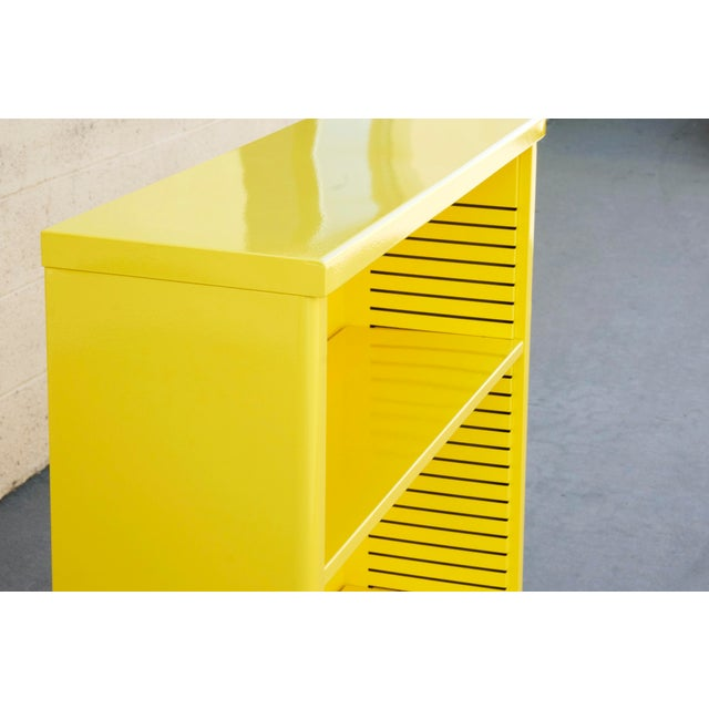 Steelcase 1960s Steel Tanker Style Bookcase in Yellow, Custom Refinished to Order For Sale - Image 4 of 8