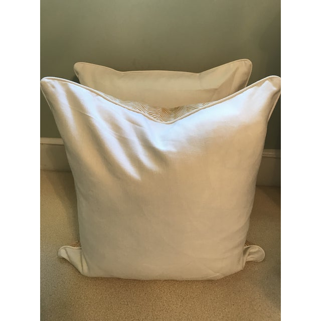 Quadrille China Seas Zig Zag Pillows - a Pair For Sale - Image 4 of 7