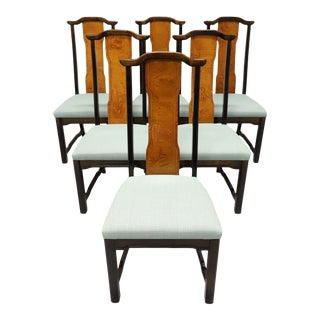 Broyhill Premiere Ming Asian Chinoiserie Dining Side Chairs - Set of 6 For Sale