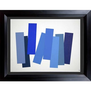 Modern Josef Albers Original Silkscreen [V-3a] Ltd Ed. Color Study + Custom Framing For Sale