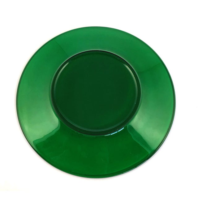 Anchor Hocking 1950s Vintage Anchor Hocking Green Dessert Plate For Sale - Image 4 of 7