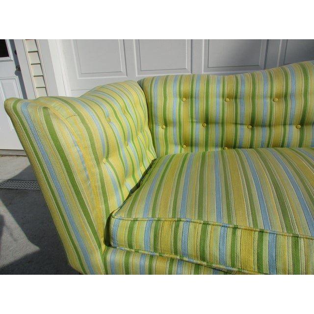 Vintage French Striped Sofa For Sale - Image 10 of 12