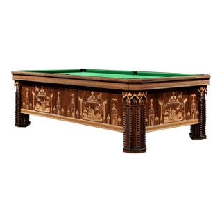 French Gothic Revival Billiard Table