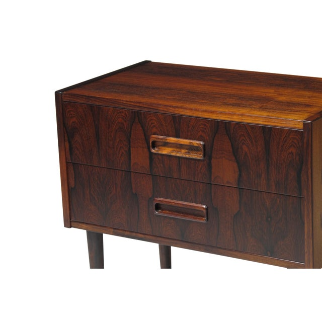 Wood Danish Rosewood Nightstand Bedside Tables With Drawers - a Pair For Sale - Image 7 of 9