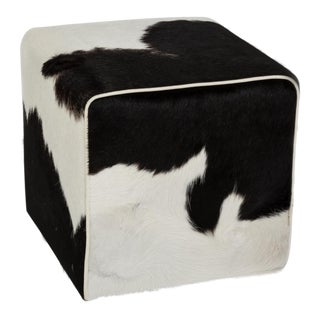 Black & White Cloud Waterfall Ottoman For Sale