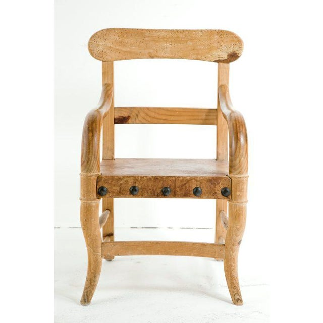 Primitive Rustic Michael Taylor Pine Chair For Sale - Image 3 of 9
