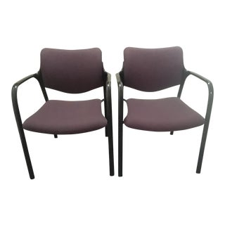 "Pair of ""Aside"" Armchairs Designed by Mark Goetz for Herman Miller For Sale"