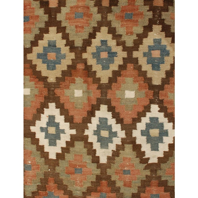 Early 20th Century Shahsavan Kilim Runner - 3′6″ × 9′ For Sale - Image 4 of 4
