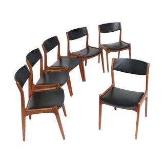 Danish Modern Chairs Inspired by Kai Kristiansen - Set of 6