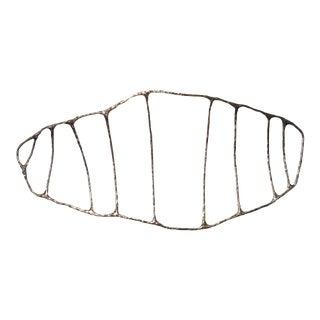 Bronze Fishbone Lost Wax Casting Sculpture by Steven Haulenbeek For Sale