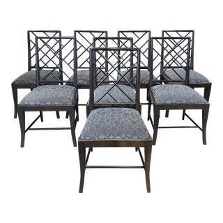 Century Furniture Stocked Cross-Back Mohair Side Chairs - Set of 10 For Sale