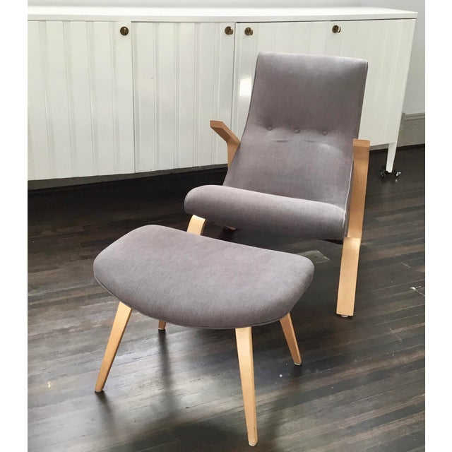 "Late 20th Century Vintage Eero Saarinen Model 61 ""Grasshopper"" Chair + Ottoman - 2 Pieces For Sale - Image 5 of 10"