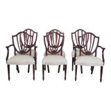 Image of 1990s Vintage Baker Shield Back Dining Room Chairs- Set of 6 For Sale