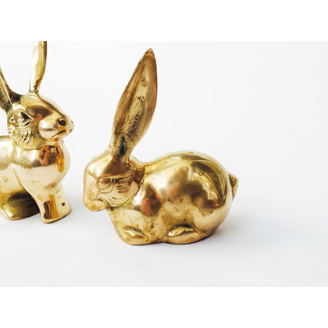 Vintage Brass Rabbit Figurines - A Pair - Image 5 of 6