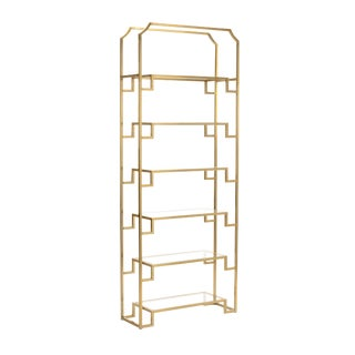 Wildwood Hampton Brass Shelf Unit