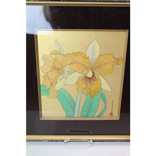Glass Asian Daffodil Print For Sale - Image 7 of 8